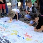 Schuetzenumzug in Letter 2017 mit Protestaktion für die Schwimmhalle Letter